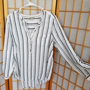 Lucky Brand Striped Long-Sleeve Tunic